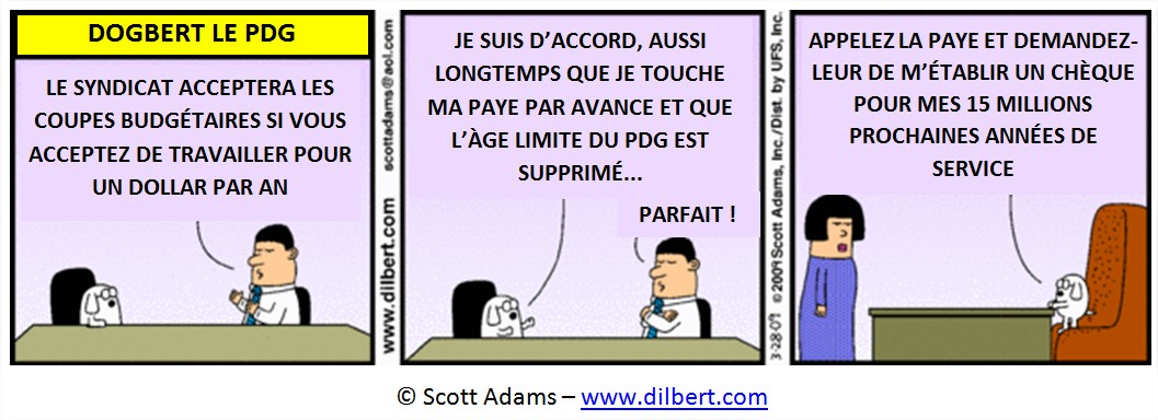Dessin salaires PDG USA Cartoon