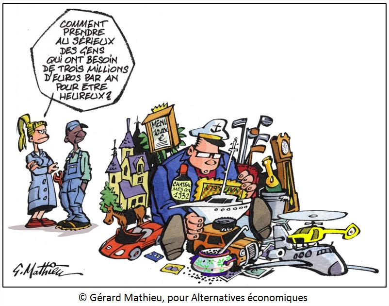 Dessin délocalisation PDG USA Cartoon