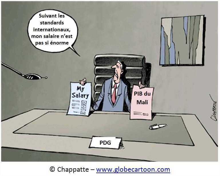 Dessin salaires PDG USA Cartoon rémunération patrons