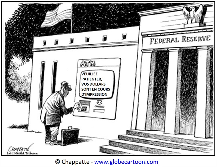 Cartoon Dollar Quantitative Easing