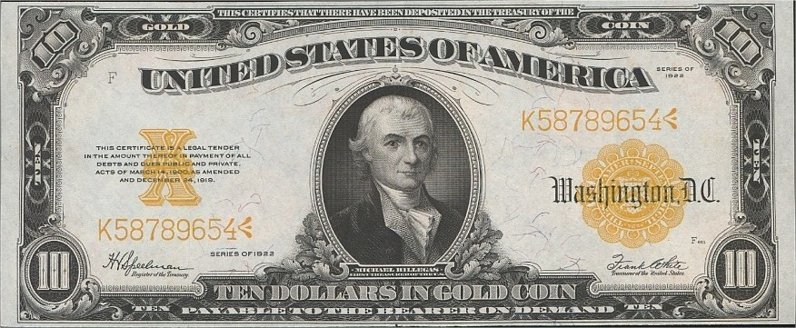 10$ 1922