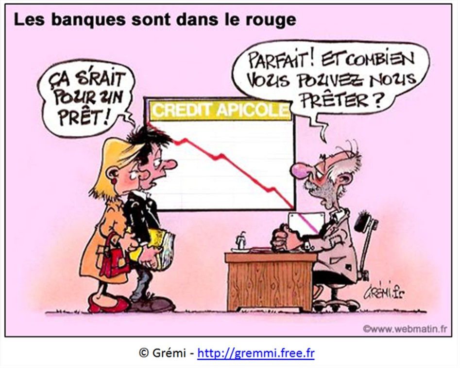 dessin humour cartoon banques