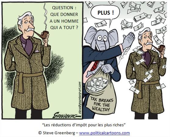 Dessin cartoon humour Inégalités de revenus USA Etats-Unis