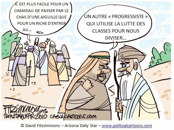 Dessin Cartoon Humour Inégalités patrimoine USA