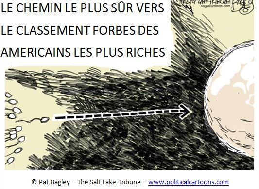 Dessin cartoon humour Inégalités de patrimoine USA Etats-Unis