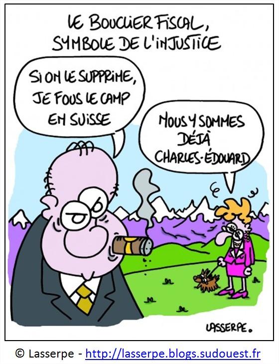Dessin Humour Cartoon Inégalités de revenus en France