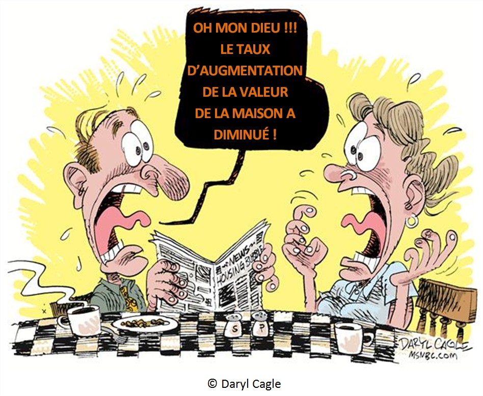 Dessin Humour Cartoon Crise immobilière Prix logements usa