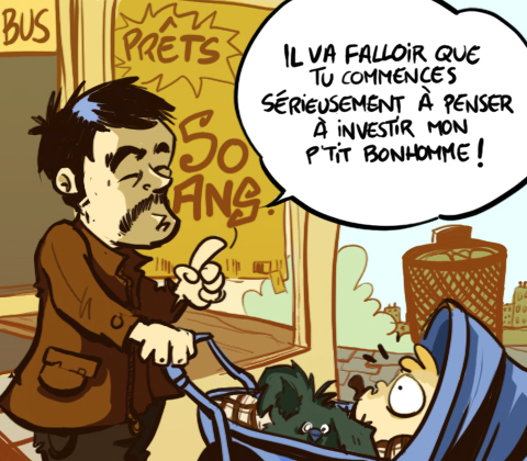 Dessin Humour Cartoon Crise immobilière Prix logements