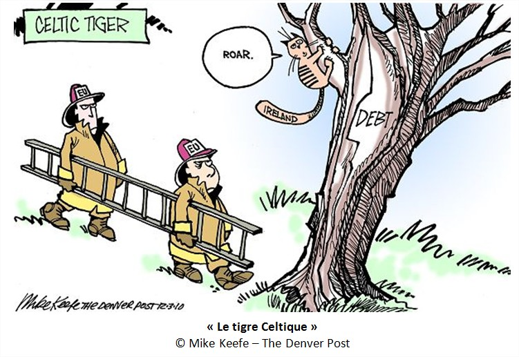 Cartoon Dessin Crise Irlande