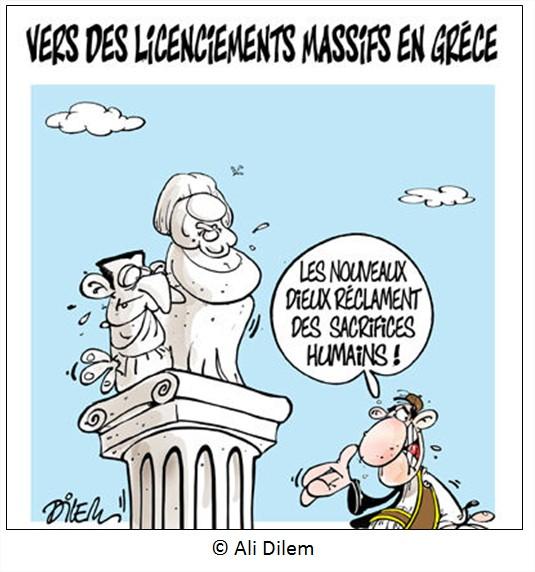 Cartoon Dessin Crise Grèce