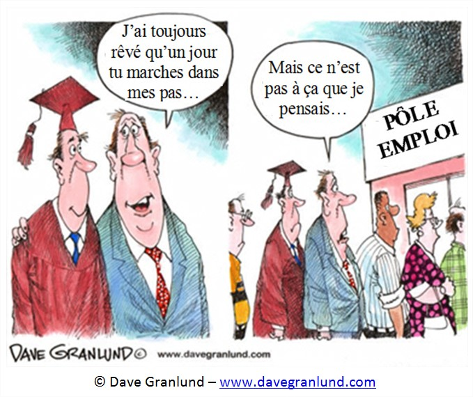 Cartoon dessin chomage