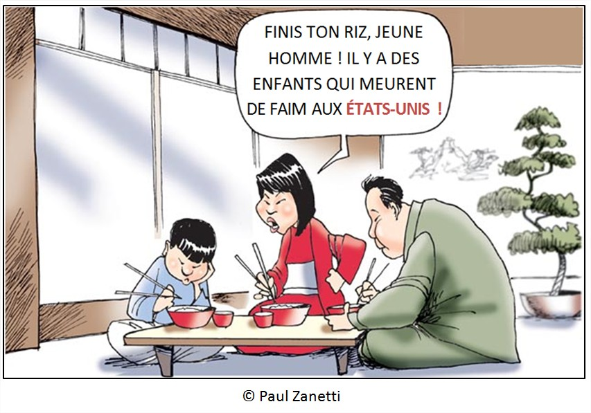 Cartoon dessin humour alimentation