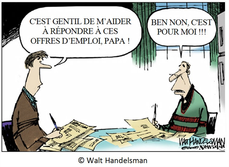 Cartoon dessin humour chômage