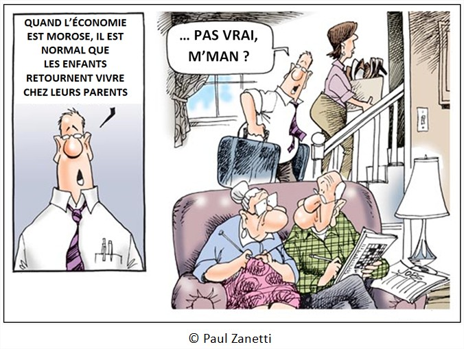 Cartoon dessin chômage