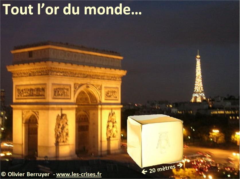 Volume d'or dans le monde... en image... Cube-or