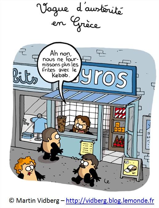 dessin cartoon humour dette Budget grec Grèce