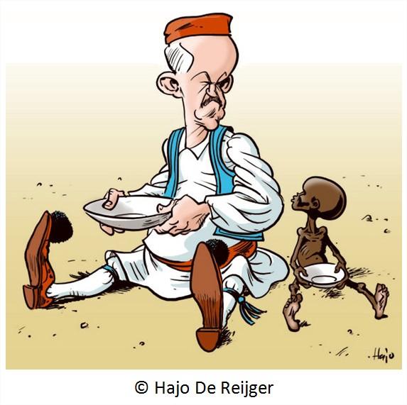 dessin cartoon austerite humour dette Budget grec Grèce