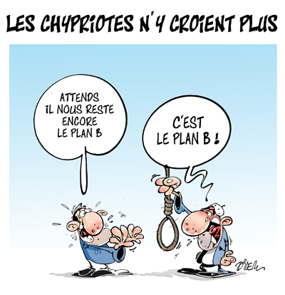 dessin humour Chypre crise dette