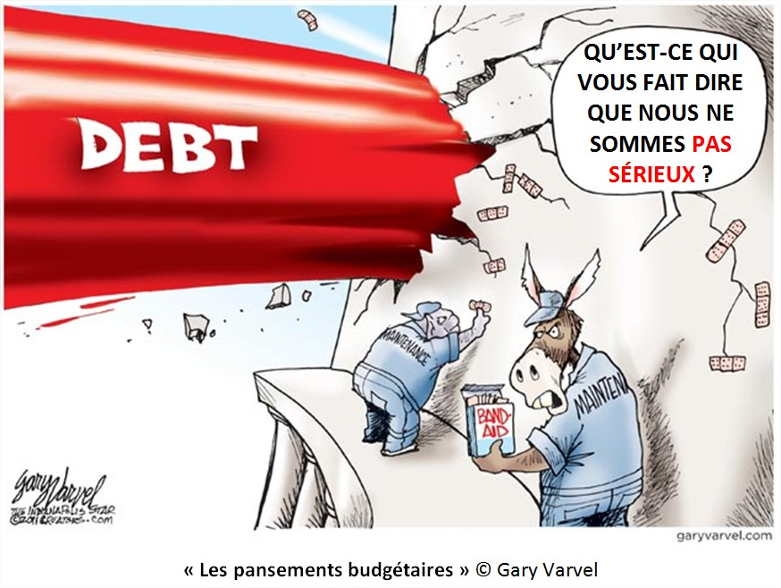 Dessin Cartoon Dette publique USA