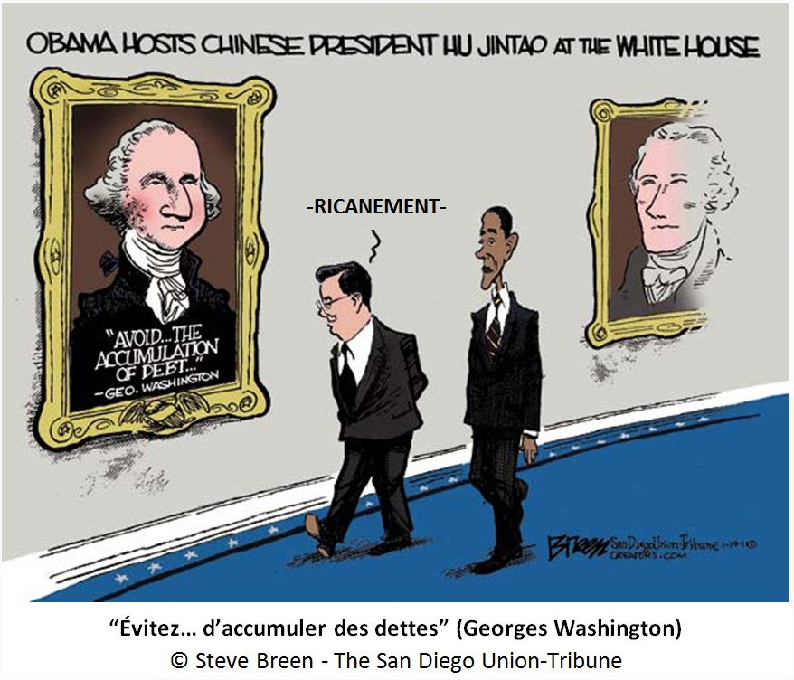 Dessin Cartoon dette américaine Chine