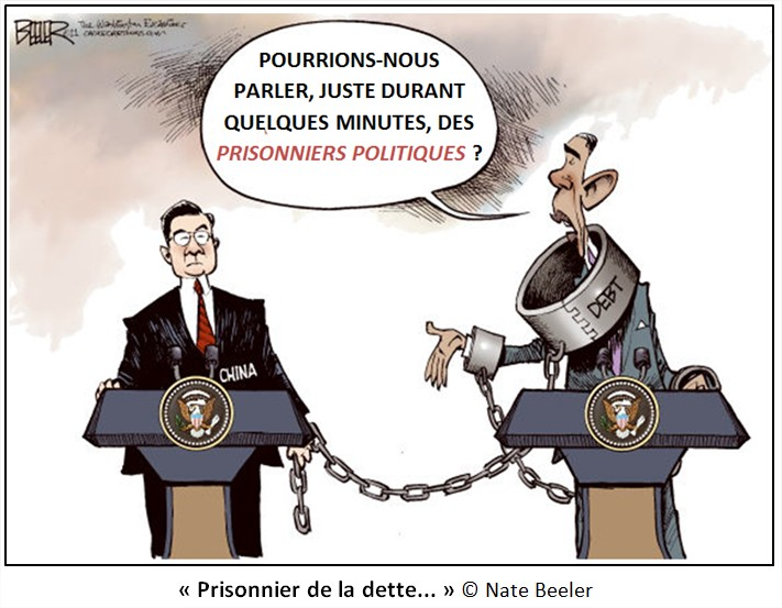 Dessin Cartoon dette américaine Chine