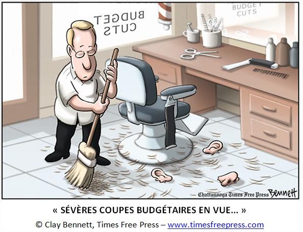 cartoon coupes budgétaires
