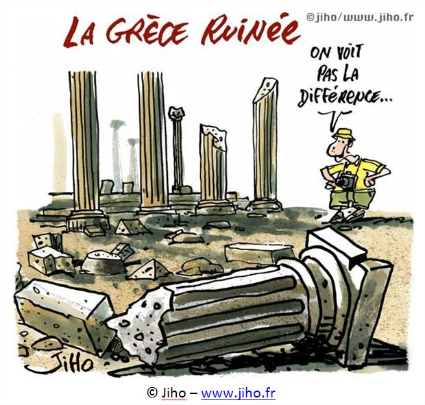 dessin cartoon Grèce
