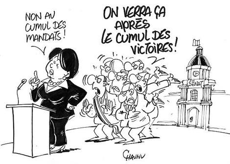 Dessin Cartoon Cumul des mandats