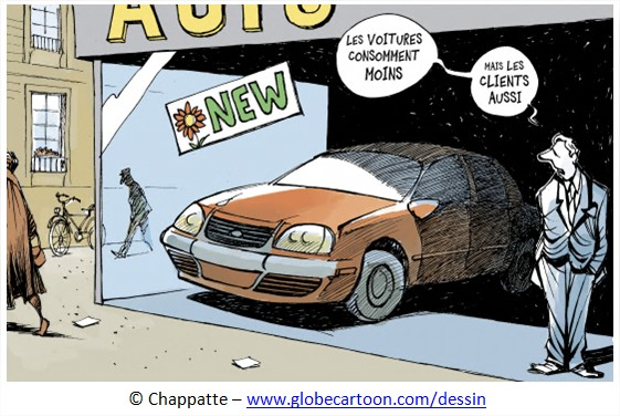 Dessin Cartoon consommateur