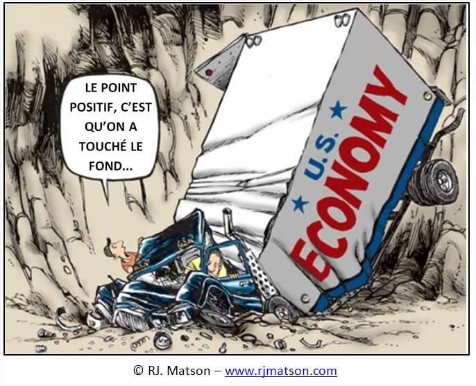Dessin Cartoon crise economique