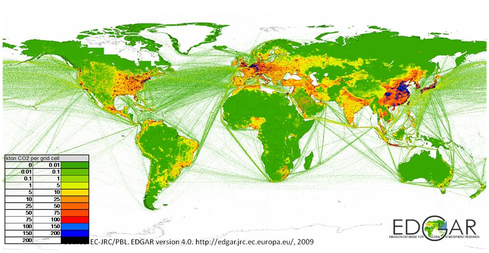 Répartition Mondiale Emissions gaz à effet de serre