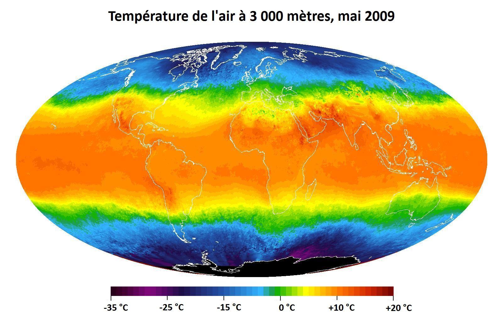 Anomalies de températures