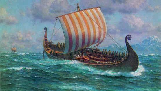Groenland vikings drakkar bateau