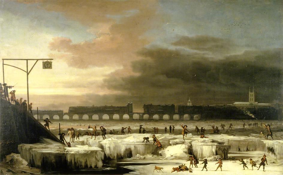 Tamise gelée en 1677