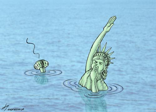 Dessin humour cartoon élévation augmentation niveau des mers