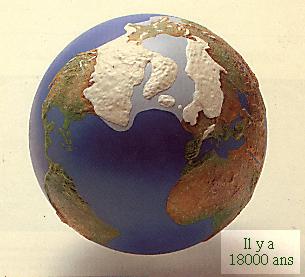Glaciation 18000 ans