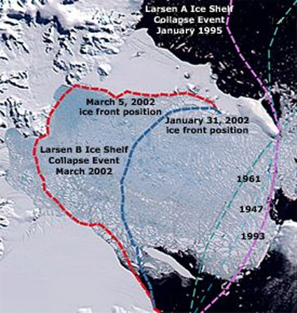 Ice Shelf plateforme Larsen
