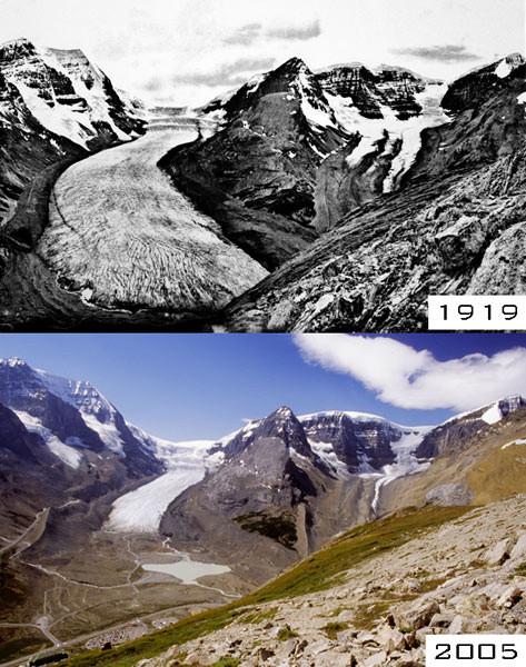 Fonte glacier retrait recul