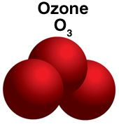 Molécule d'ozone O3