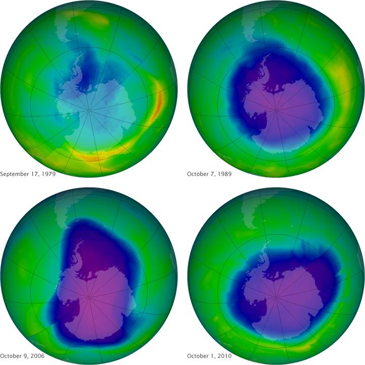Synthèse du trou de la couche de l'ozone 1979-2010