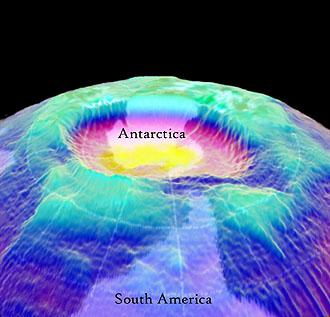 Trou de la couche d'ozone 3D