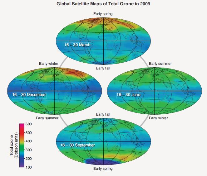 Trou de la couche de l'ozone monde