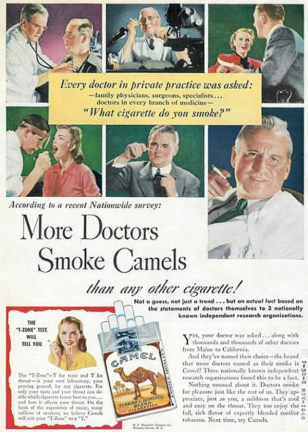 Tabac more doctors smoke camel