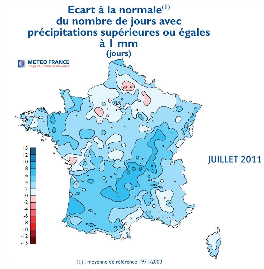 Climat Précipitations France