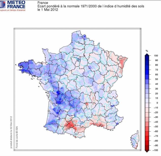 Eau dans le sol France