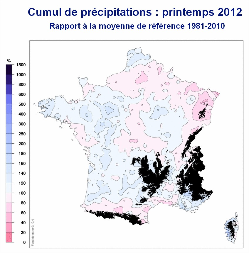 bilan du printemps - precipitations