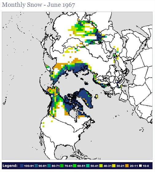 Anomalie Couverture neigeuse de l'Hémisphère nord