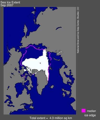 Banquise arctique en 2007