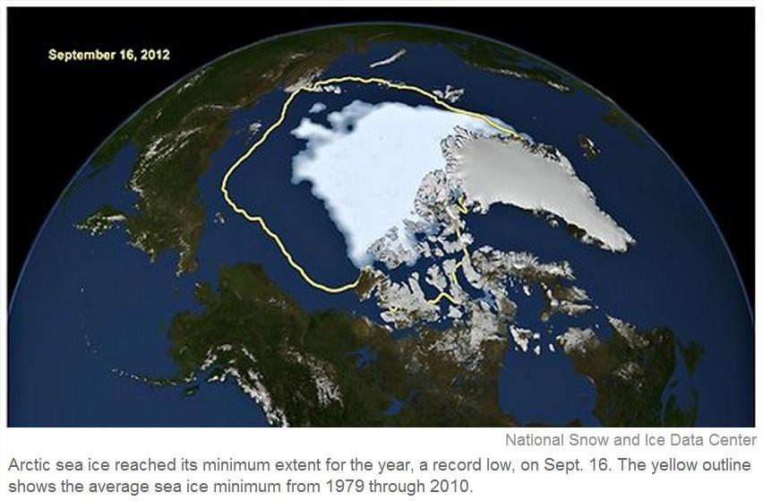 Banquise arctique en 2012
