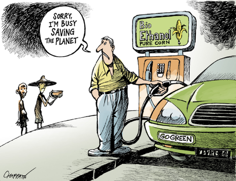 Dessin crise alimentaire ethanol